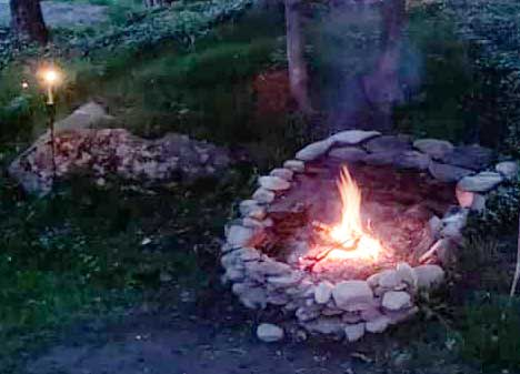 The fire pit will be going on cool evenings
