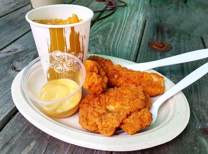 Chicken Strips w/ fries & drink $10.50