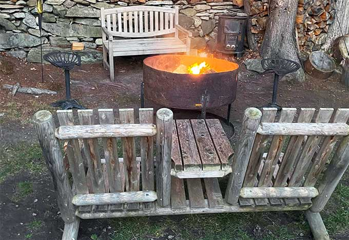 Balthazar's Ice Shack Fire Pit